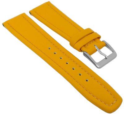 Uhrenarmband Montana Walknappa Leder Gelb 26379S – Bild 1