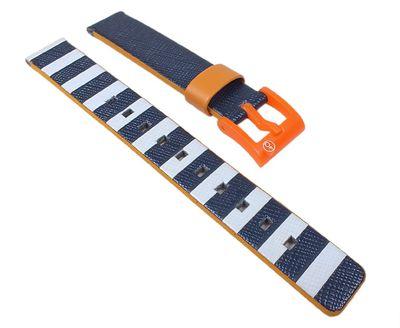 Q&q SmileSolar Uhrenarmband 14mm | Textil/Kunststoff Mix Band 26504 – Bild 1