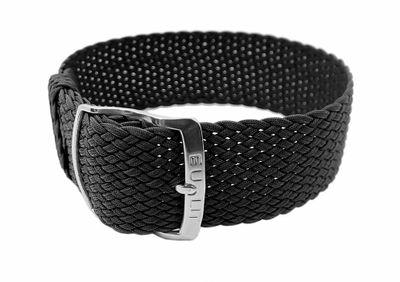 Ersatzband Perlon Textil schwarz geflochten Panama 26621S – Bild 1
