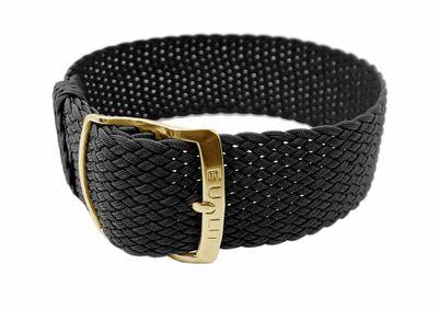 Ersatzband Perlon Textil schwarz geflochten Panama 26622G