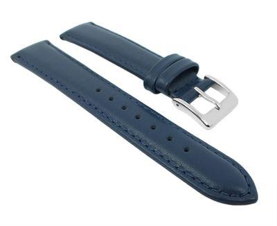 Uhrenarmband Leder Seidenkalb Blau Herzog 26707S – Bild 1