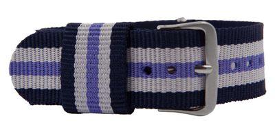 Durchzugsband Textil Blau/Lila/weiß 26765 – Bild 1