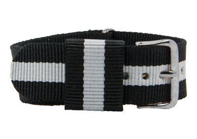 Durchzugsband Textil schwarz/weiß 20mm - 26788 – Bild 1