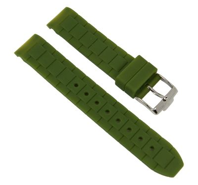 Ersatzband Silikon grün 18mm Jacques Lemans Rome Sports 1-1623N 1-1571 – Bild 1