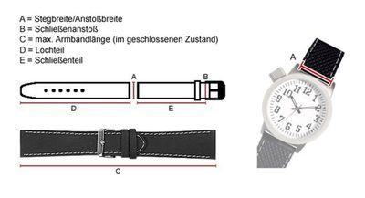 Ersatzband Leder Schwarz/Orange Police Twingear P11397J/02A – Bild 2