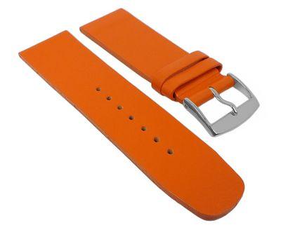 Uhrenarmband Leder glatt orange ohne Naht Spree 27096S – Bild 1