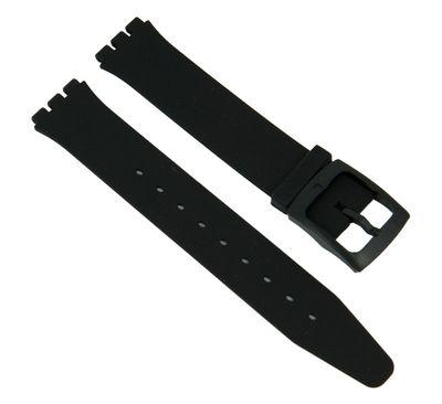 Ersatzband Silikon schwarz passend zu Swatch Skin 16mm 27171 – Bild 1