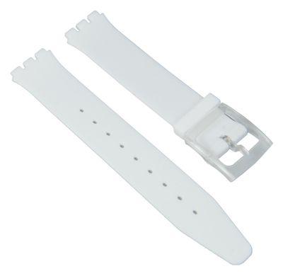 Ersatzband Silikon weiß passend zu Swatch Skin 16mm 27174 – Bild 1