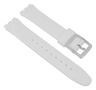 Minott Ersatzband Silikon weiß passend zu Swatch Gent 17mm 27177