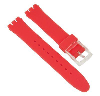 Minott Ersatzband 17mm | Silikon rot passend zu Swatch Gent 27179