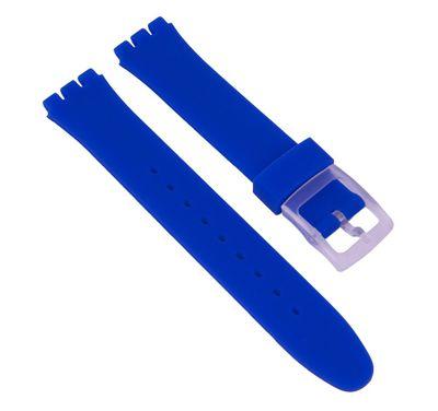 Minott Ersatzband Silikon Blau passend zu Swatch Gent 17mm 27180