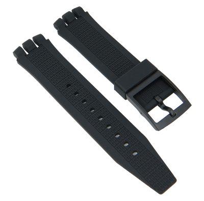 Ersatzband Silikon schwarz 21mm passend zu Swatch Irony 27183