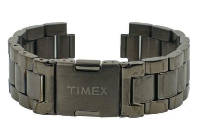 Ersatzband Herren Edelstahl schwarz 20mm Timex T2N949 – Bild 1