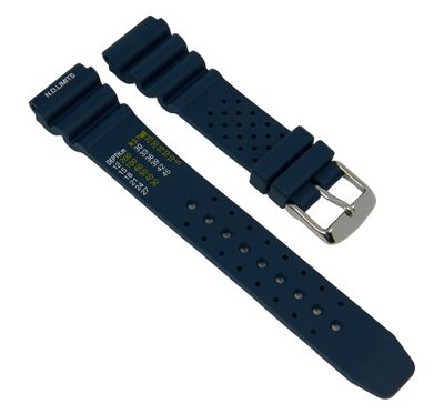 Uhrenarmband Taucher Kautschuk dunkelblau Diver II 27287S – Bild 1
