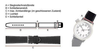 Festina Uhrenarmband 25mm | Leder Kroko-Optik dunkelbraun F16673/3 – Bild 2