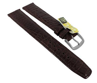 Uhrenarmband XL Krokoleder Graf Bahamas dunkelbraun 27560 – Bild 2
