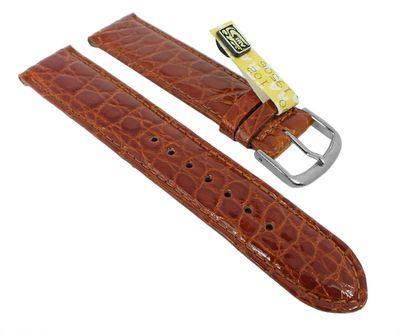 Uhrenarmband Krokoleder Graf Bahamas braun 27570 – Bild 2