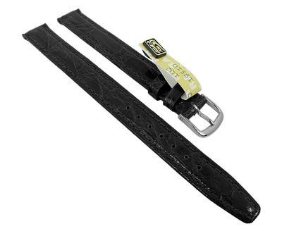 Uhrenarmband Damen XL Krokoleder Graf Bahamas schwarz 27581 – Bild 1