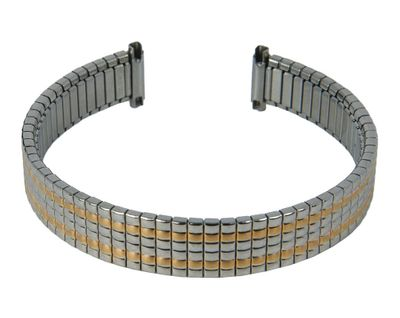 Zugband Edelstahl bicolor Teleskopanstoss 12mm 13mm 14mm 27812Bi – Bild 1