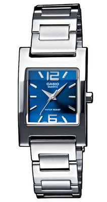 Armbanduhr Damen blau silbern Casio Collection LTP-1283PD-2A2EF