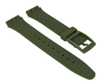 Ersatzband Silikon olivgrün/apfelgrün Swatch New Gent SUOG706 – Bild 1