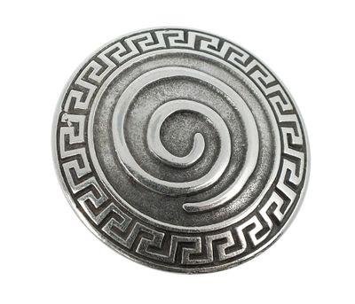 Anhänger Spirale Messing versilbert im Used Look Minott 27983 – Bild 1