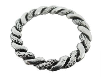 Anhänger Kranz Ring Messing versilbert im Used Look Minott 27989