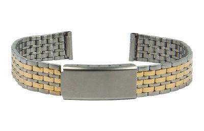 Uhrenarmband Edelstahl Band bicolor 12mm Minott 28168 – Bild 1