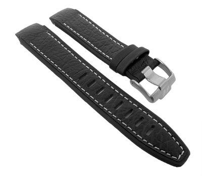 Ersatzband Leder schwarz für Jacques Lemans Formel 1 F-5037A – Bild 1