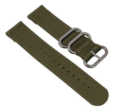 Uhrenarmband Textil olivgrün Metallschlaufen Minott 28229S