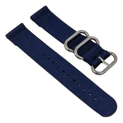 Uhrenarmband Textil dunkelblau Metallschlaufen Minott 28233S