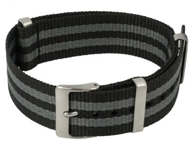Durchzugsband Nylon Minott schwarz-grau 20mm 28591 – Bild 1