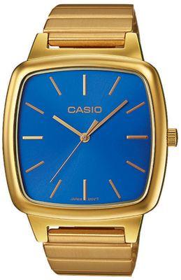 Casio Armbanduhr Herren analog eckig gelbgoldfarben/blau LTP-E117G-2AEF