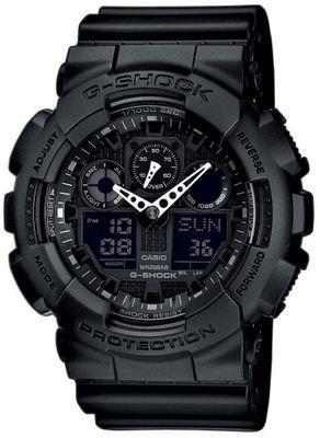 Casio G-Shock Herrenuhr ana-digi schwarz Weltzeit GA-100-1A1ER