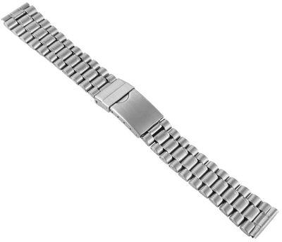 Uhrenarmband Edelstahl silberfarben 18mm mattiert