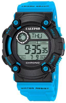 Calypso K5694 Herrenuhr Chrono digital mit PU-Armband – Bild 3