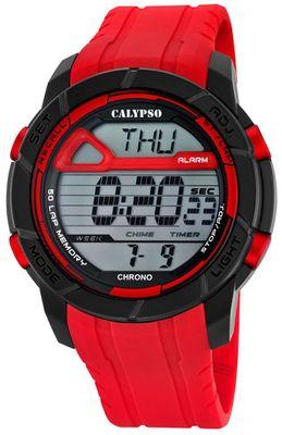 Calypso Herrenuhr Chrono | Sportliche digitale Uhr mit PU-Armband – Bild 3