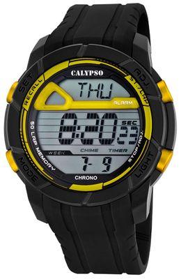 Calypso Herrenuhr Chrono | Sportliche digitale Uhr mit PU-Armband – Bild 6