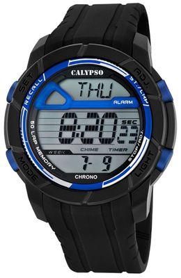 Calypso Herrenuhr Chrono | Sportliche digitale Uhr mit PU-Armband – Bild 9