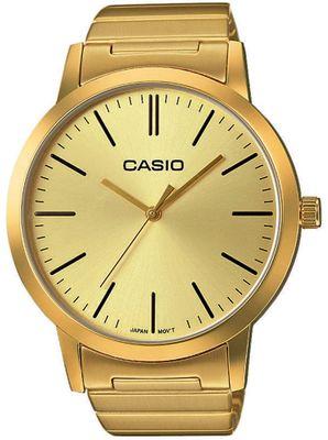 Casio Herrenuhr | mit Edelstahlarmband gelbgoldfarben LTP-E118G