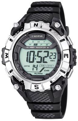 Calypso K5683 Herrenuhr Alarm-Chrono digital PU-Armband – Bild 2