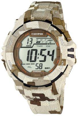 Calypso K5681 Herrenuhr Alarm-Chrono digital PU-Armband – Bild 3