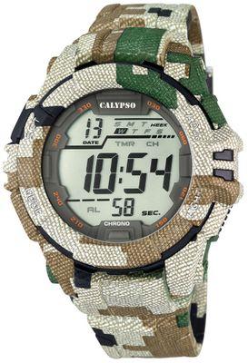 Calypso K5681 Herrenuhr Alarm-Chrono digital PU-Armband – Bild 4