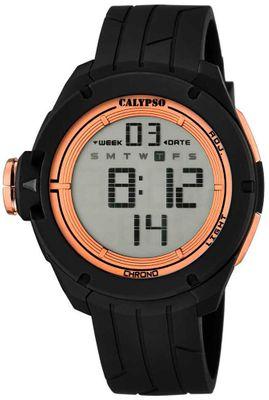 Calypso K5657 Herrenuhr Alarm-Chrono digital PU-Armband – Bild 3