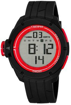 Calypso K5657 Herrenuhr Alarm-Chrono digital PU-Armband – Bild 4