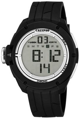 Calypso K5657 Herrenuhr Alarm-Chrono digital PU-Armband – Bild 2
