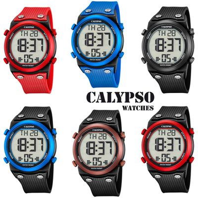 Calypso K5705 Herrenuhr digital Quarz Alarm-Chrono PU-Band – Bild 1