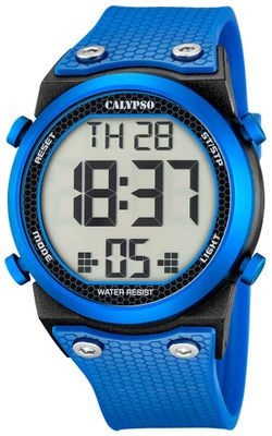 Calypso K5705 Herrenuhr digital Quarz Alarm-Chrono PU-Band – Bild 5