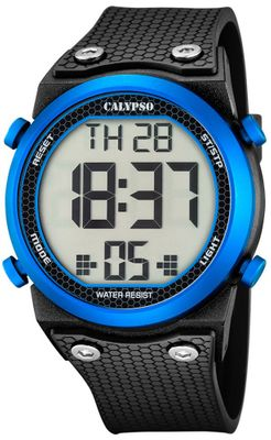 Calypso K5705 Herrenuhr digital Quarz Alarm-Chrono PU-Band – Bild 2