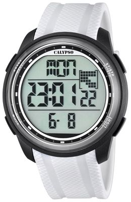 Calypso K5704 Herrenuhr digital Quarz Alarm-Chrono PU-Band – Bild 6